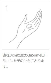 QuSomeローション使い方1