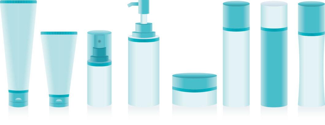 化粧品の瓶の画像