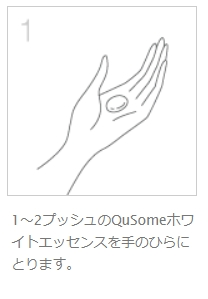 QuSomeホワイトエッセンスの使い方1